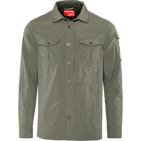 Craghoppers NosiLife Adventure II Longsleeve Shirt Heren, dark khaki